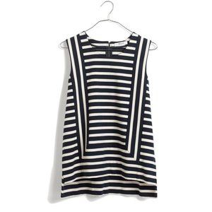 Madewell Frameset Ponte Top Striped Knit Cotton M